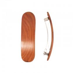 Barette en bois semi-circulaire pour cheveux normaux