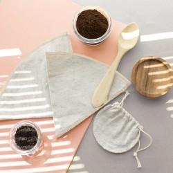 Filtre à café réutilisable en coton recyclé et chanvre