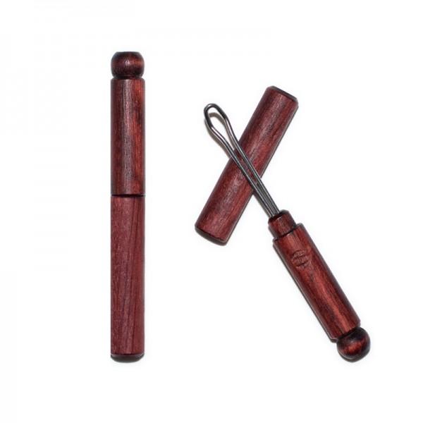 Limpiador de oídos ecológico de madera y acero inoxidable
