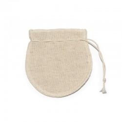 Sachet de thé réutilisable en coton recyclé et chanvre
