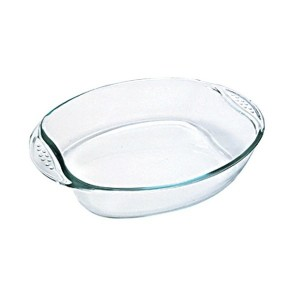 Fuente oval de vidrio PYREX 35x24cm.
