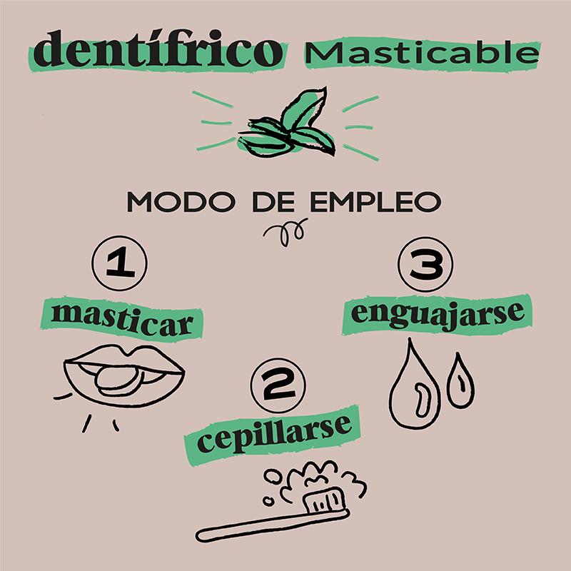 Dentifrico natural pastilla