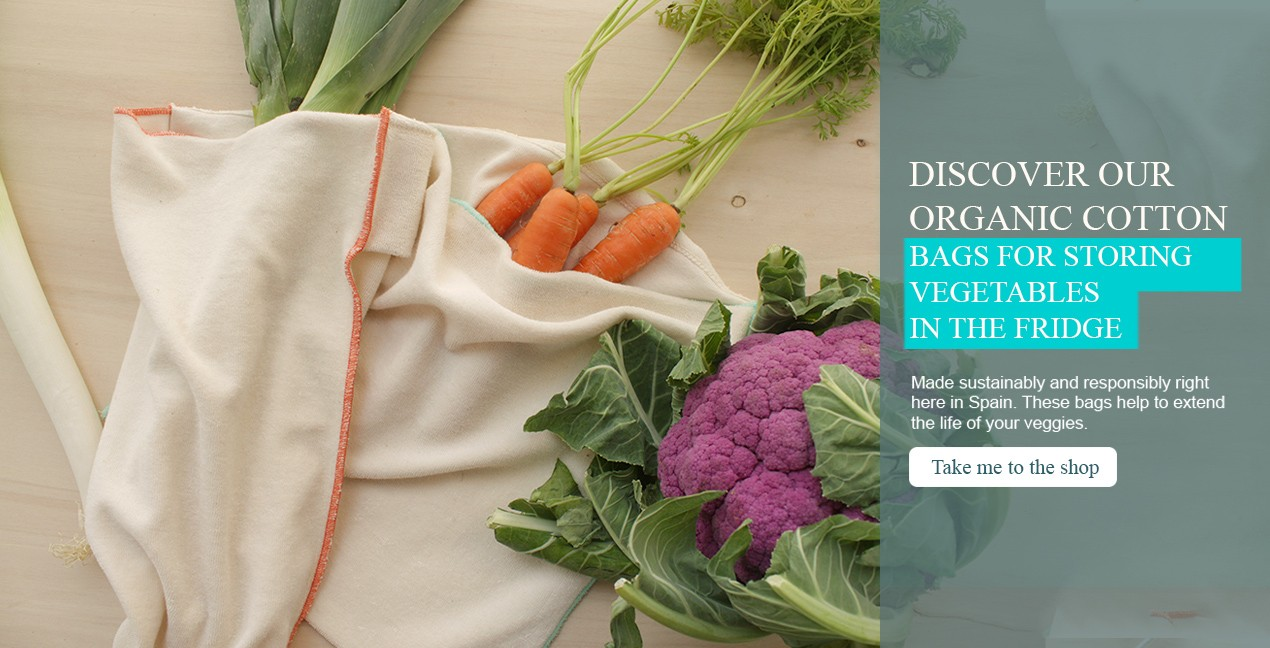 Organic cotton vegetables storage bag